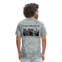 Load image into Gallery viewer, Black Hearts Matter Mens Graphic Tee - grey tie dye