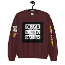 Load image into Gallery viewer, Black Hearts Matter Sweatshirt