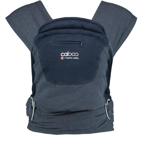 Close Caboo + Organic Baby Carrier, Striped Midnight