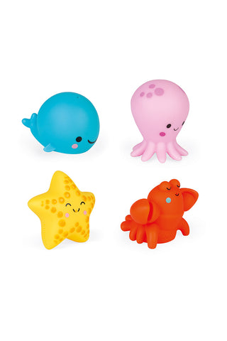 Janod Sea Creatures Squirters 4 Pack