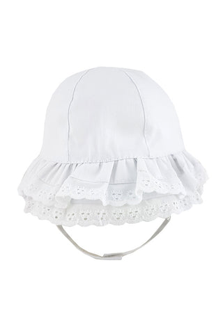 Broderie Anglaise Frilly Sun Hat