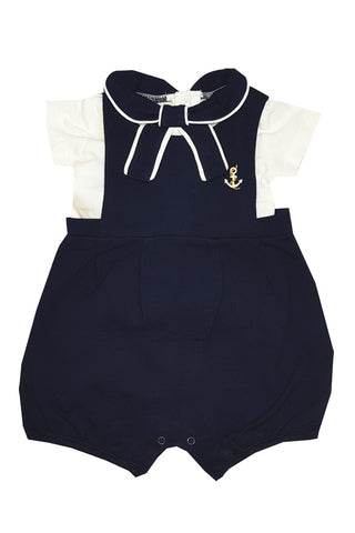 Pique Nautical Dungaree Set