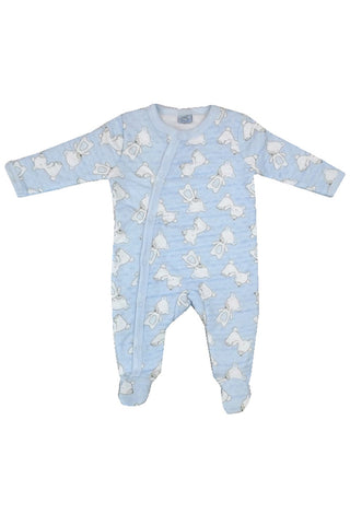 Pale Blue Padded Teddy All-in-One
