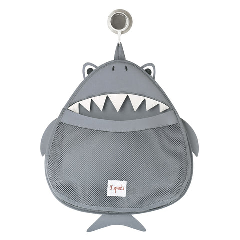 3 Sprouts Bath Storage Shark Grey