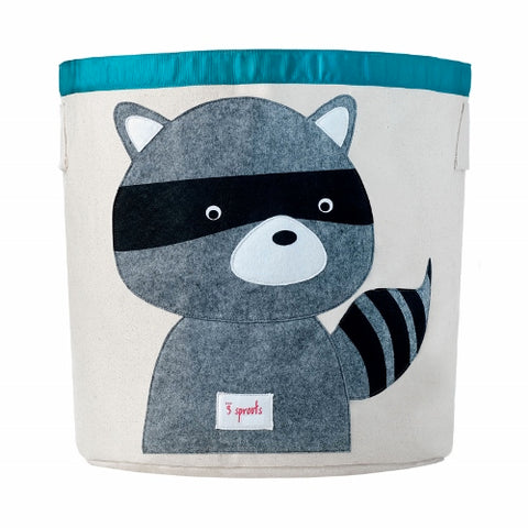 3 Sprouts Storage Bin Raccoon Grey