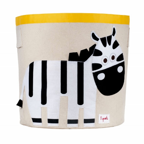 3 Sprouts Storage Bin Zebra Black & White