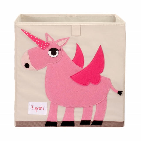 Storage Box Unicorn Pink