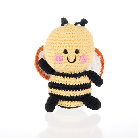 Fair Trade Bee Baby Rattle