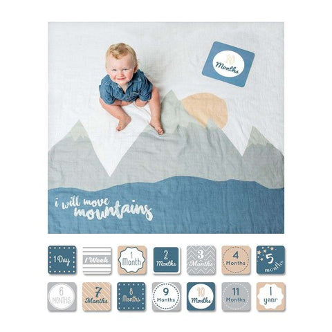 I Will Move Mountains Milestone Blanket
