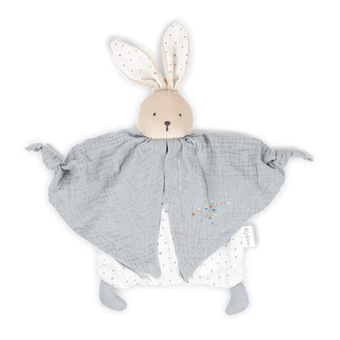 Organic Cotton Doudou Rabbit Grey