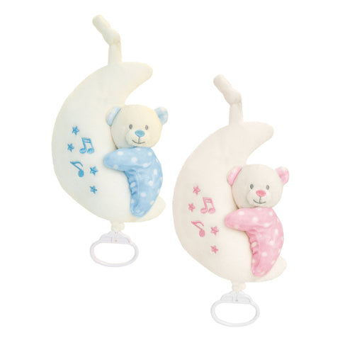 Baby Teddy Bear on Musical Moon 20cm
