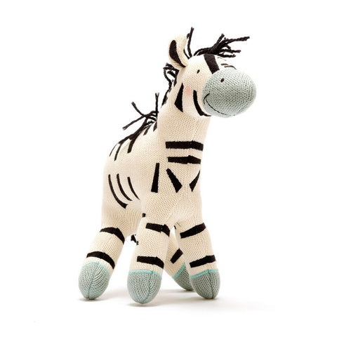 Large Organic Cotton Zebra Soft Toy