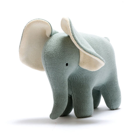 Large Teal Organic Cotton Elephant Toy