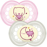 MAM Original Night Soother Pink 6m+ 2Pk