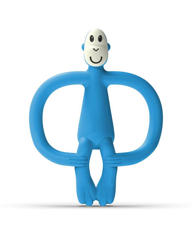 Matchstick Monkey Teether Blue