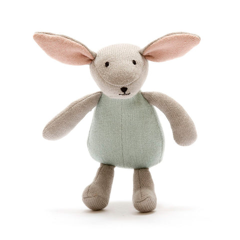 Organic Cotton Bunny Toy in Teal