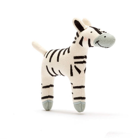 Small Organic Cotton Zebra Soft Toy