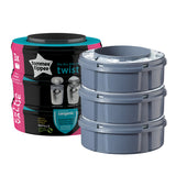 Tommee Tippee Sangenic Twist and Click Cassettes x 3