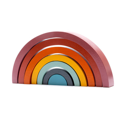 Wooden Traditional Colours Rainbow Stacker Toy