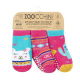 Zoocchini Sock Set 3 Pack Laney Llama 0-24M