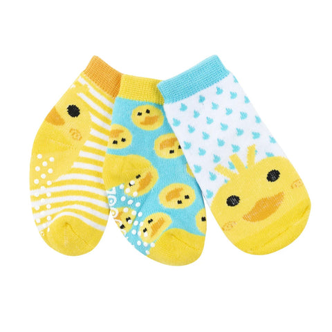 Zoocchini Sock Set 3 Pack Puddles The Duck 0-24M