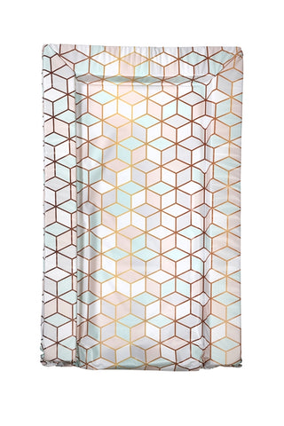 Geo Rose Gold Print Changing Mat