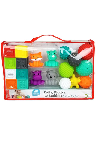 Infantino Balls; Blocks and Buddies Set