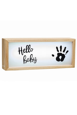 Baby Art Wooden Collection Lightbox with Imprint