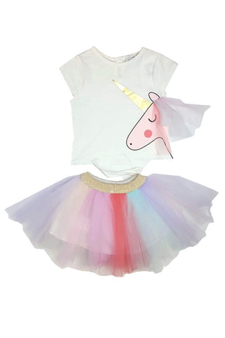 Rainbow Unicorn TuTu Shirt Set