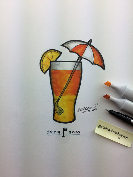 Arnold Palmer Tribute Illustration Limited Edition - Miami Marlins - S. Preston Art + Designs