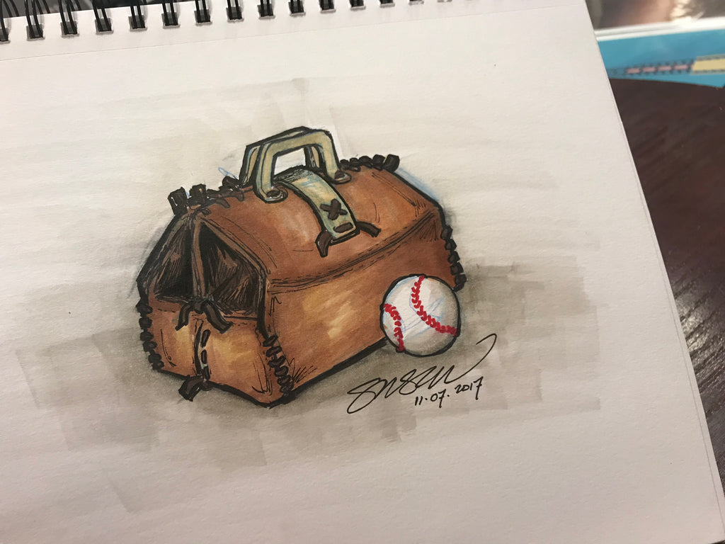 Doc Halladay Tribute Sketch Limited Edition - Toronto Blue Jays - S. Preston Art + Designs