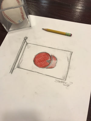 Ohtani to Anaheim Sketch Limited Edition - Los Angeles Angels - S. Preston Art + Designs