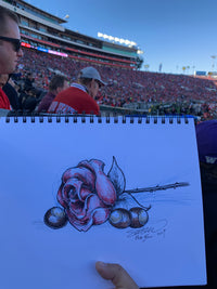 Rose and Buckeyes Sketch - Ohio State 2019 Rose Bowl Sketch