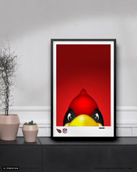 Minimalist Big Red Poster Print Arizona Cardinals - S. Preston