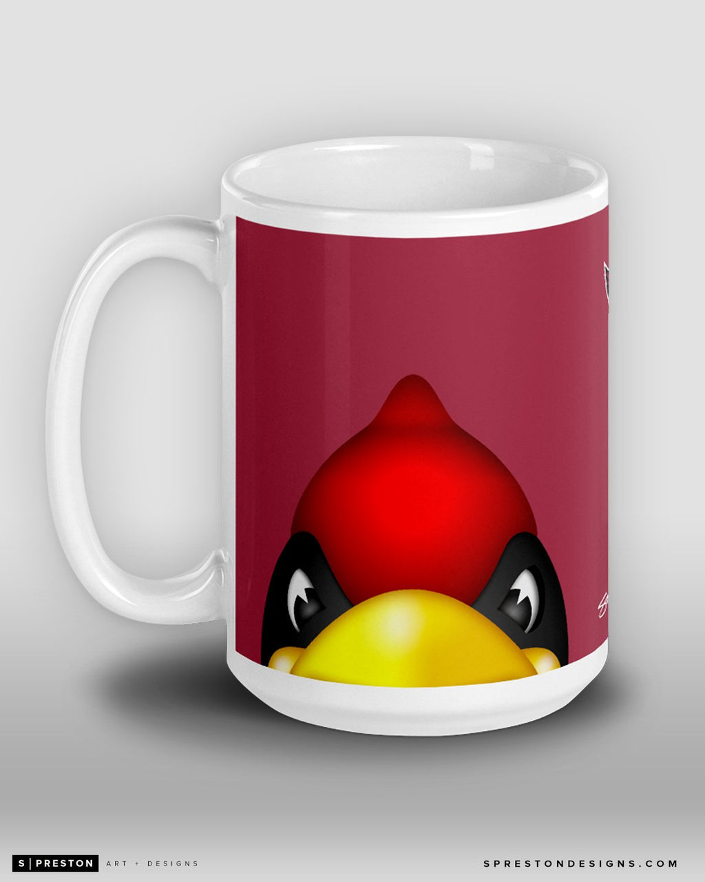 Minimalist Big Red Coffee Mug Arizona Cardinals Mascot  - S. Preston