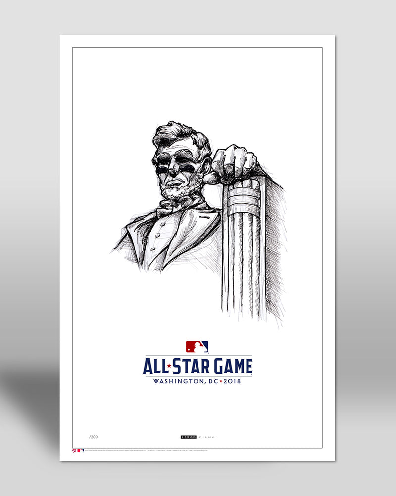 Minimalist 2018 All Star Game Illustration (Eyeblack Lincoln) Limited Edition - Washington Nationals - S. Preston Art + Designs