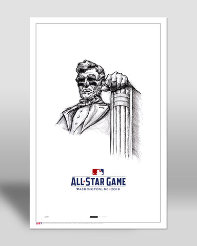 ! Minimalist 2018 All Star Game Illustration 1 Limited Edition - Washington Nationals - S. Preston Art + Designs