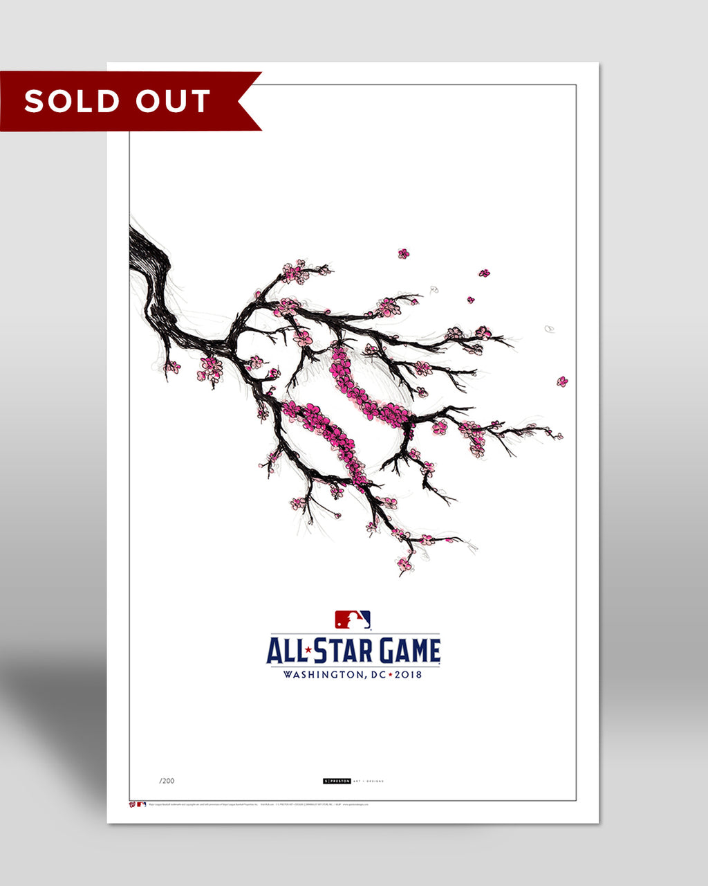 2018 All Star Game Sketch (Cherry Blossoms)