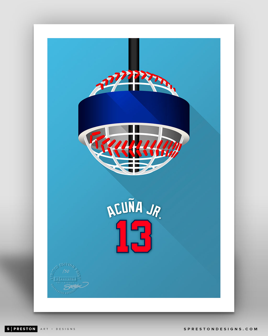 Minimalist Truist Park - Player Series - Ronald Acuna Jr.