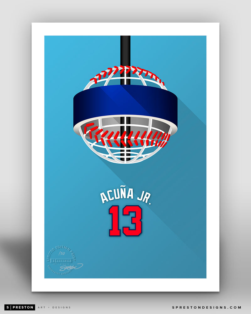 Minimalist Truist Park - Player Series - Ronald Acuna Jr. - atlanta Braves - S. Preston