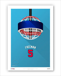 Minimalist Truist Park - Player Series - Freddie Freeman
