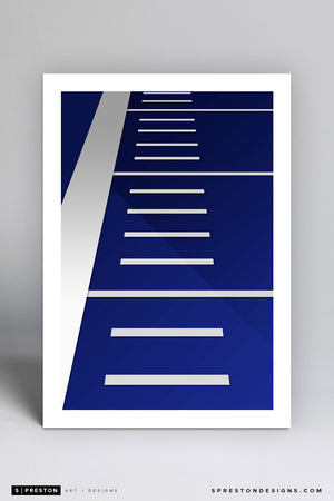 Minimalist Albertsons Stadium Art Print - Boise State University - S. Preston Art + Designs