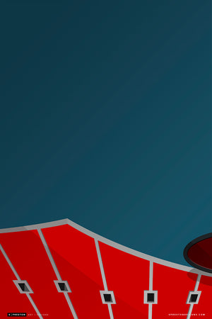 Minimalist Arrowhead Stadium Art Print - Kansas City Chiefs - S. Preston Art + Designs