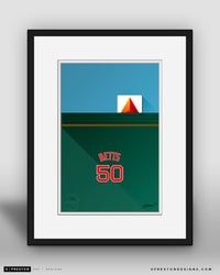 Minimalist Fenway Park - Player Series - Mookie Betts