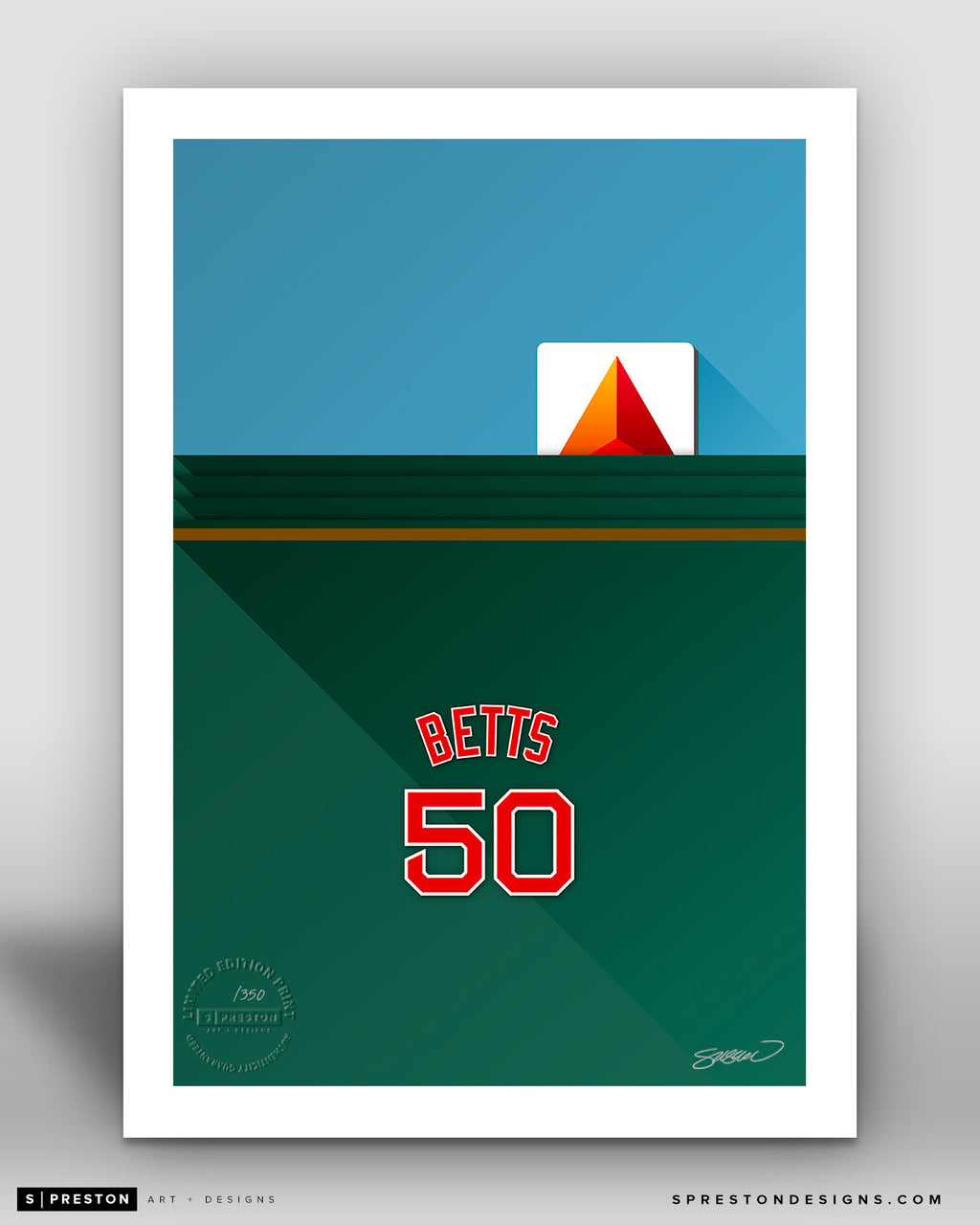 Minimalist Fenway Park - Player Series - Mookie Betts - Boston Red Sox - S. Preston