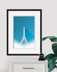 Minimalist Zakim Bridge - Boston