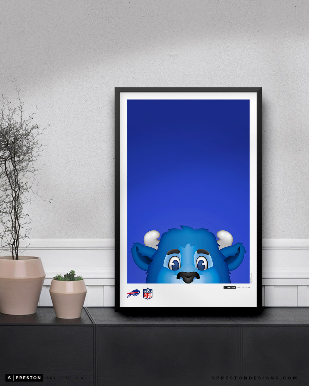 Minimalist Billy Buffalo Poster Print Buffalo Bills - S Preston