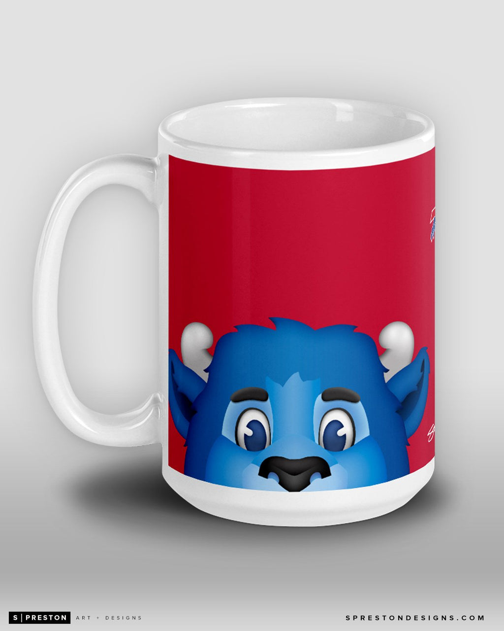 Minimalist Billy The Buffalo Coffee Mug Buffalo Bills Mascot  - S. Preston