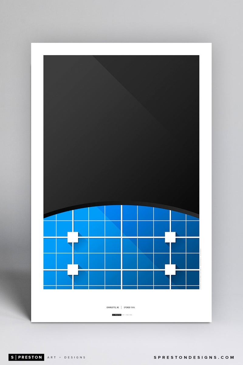 Minimalist Bank of America Stadium Art Poster Art Poster - Carolina Panthers - S. Preston Art + Designs
