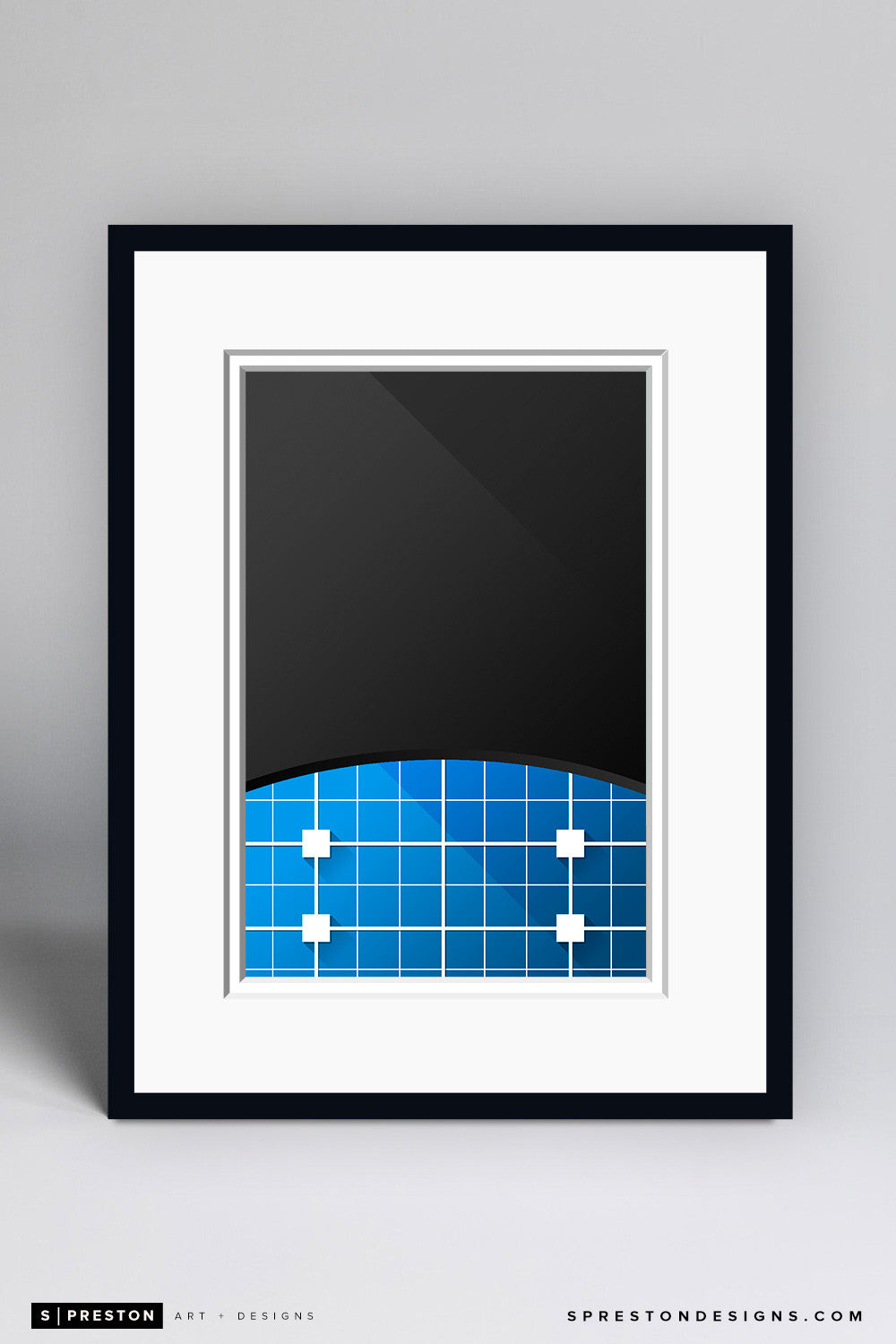 Minimalist Bank Of America Stadium Art Print - Carolina Panthers - S. Preston Art + Designs